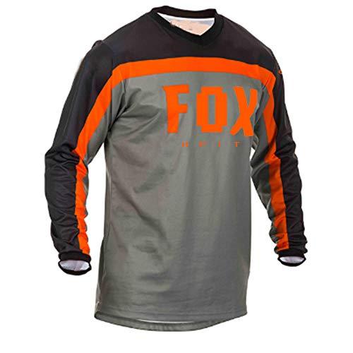 LGGJJYHMY Jerseys de Descenso para Hombre hpit Fox Camisas MTB de Bicicleta de montaña Offroad DH Jersey de Motocicleta Motocross Ropa Deportiva FXR Bike-M