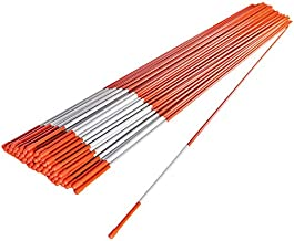 The ROP Shop   (Pack of 500 Driveway Markers, Snow Stakes, Plow Stakes, Orange Reflective Fiberglass, 5/16