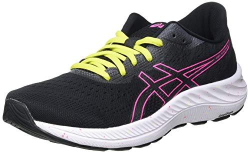 Asics Gel-Excite 8, Road Running Shoe Mujer, Black/Hot Pink, 39 EU