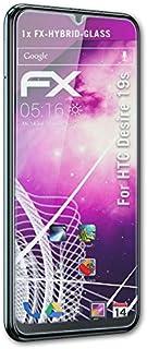 atFoliX Plastglasskyddsfilm är kompatibel med HTC Desire 19s Glasskydd, 9H hybridglas FX Skyddsglas av plast