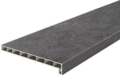 Lignodur Topline LD36 Innenfensterbank freestone 100 mm Ausladung inkl. Seitenabschlüsse Fensterbank … (900 mm)