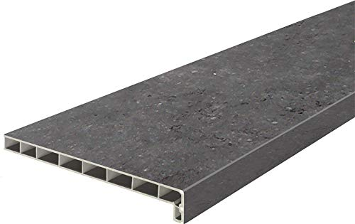 Lignodur Topline LD36 Innenfensterbank freestone 250 mm Ausladung inkl. Seitenabschlüsse Fensterbank (1000mm)