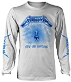 Metallica 'Ride The Lightning' (White) Long Sleeve Shirt (XX-Large)