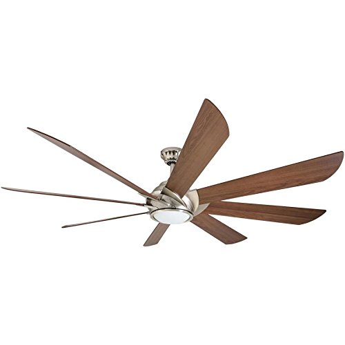 Harbor Breeze Hydra 70 Inch Brushed Nickel Indoor Ceiling Fan with Light and Remote Control (8-Blade)