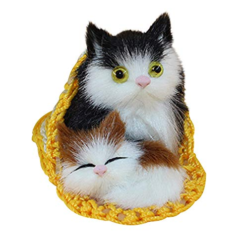 Fulltime Süße Katze Süße Plüsch 2 Katzen Stofftiere Puppe Lebensechte Simulation Geschenke 10 × 6cm