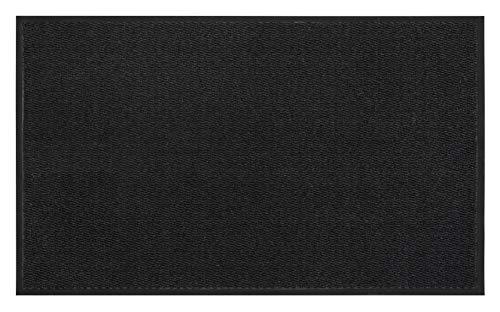 andiamo Schmutzfangmatte, Fußmatte aus Polypropylen – Indoor/Outdoor geeignet - in 90 x 150 cm Anthrazit – 5 mm Höhe