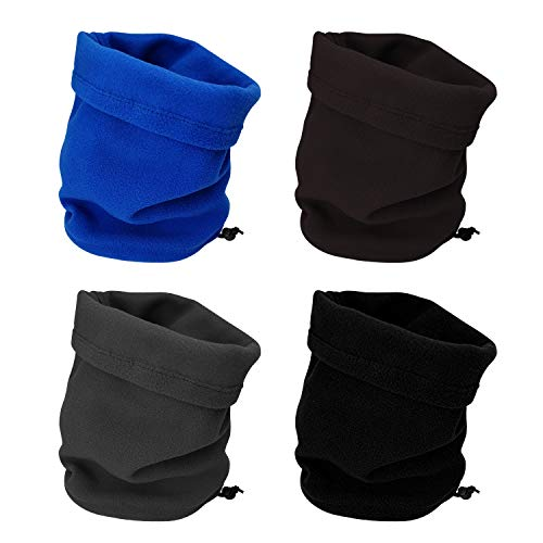 CODOHI 4 Packs Fleece Neck Warmer Windproof Snood Neck Gaiter for Men Women Head Scarf for Skiing Hiking Cycling Climbing