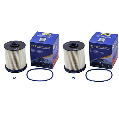 iFJF TP1015 Fuel Filter 5 Micron Filters with Seals Replacement for GMC 6.6 2017 Liter Duramax Diesel (Set of 2)