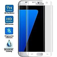 ELECTRÓNICA REY Protector de Pantalla Curvo para Samsung Galaxy S6 Edge Plus, Plata, Cristal Vidrio Templado Premium, 3D / 4D / 5D