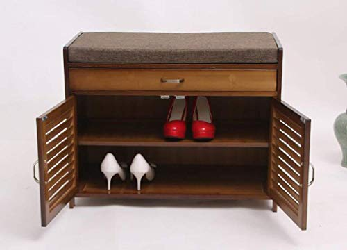 Home Equipment Massivholz Schuhregal Wechseln seiner Schuhe Hocker Hocker Wechseln seiner Schuhe Sofa Modern Minimalist Home Holztür Wechseln seiner Schuhe Hocker Hocker (Größe: 70 * 35 * 55CM) Sch