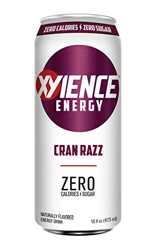 XYIENCE Energy Drink   Cran Razz   Sugar Free   Zero Calories   Natural Flavors   Vitamin Fortified   16 Ounce (Pack of 12)