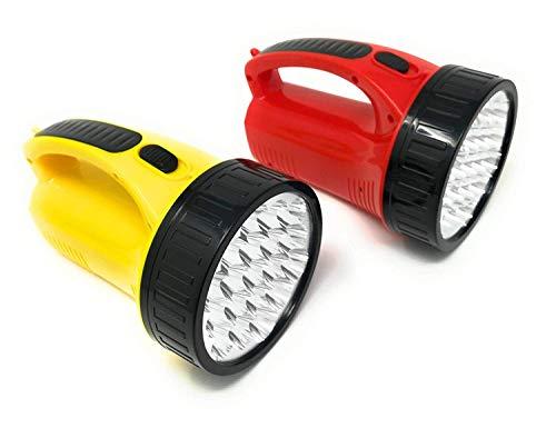 TORCIA A 19 LED LAMPADA RICARICABILE POTENTISSIMA LUCE PER BARCA 500 METRI