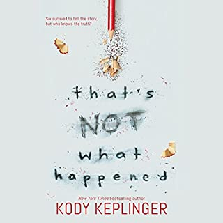 That's Not What Happened                   By:                                                                                                                                 Kody Keplinger                               Narrated by:                                                                                                                                 Whitney Dykhouse,                                                                                        Megan Tusing,                                                                                        Almarie Guerra,                   and others                 Length: 8 hrs and 32 mins     18 ratings     Overall 4.1