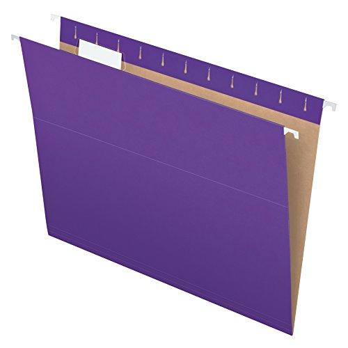 Pendaflex Recycled Hanging Folders, Letter Size, Violet, 1/5 Cut, 25/BX (81611)