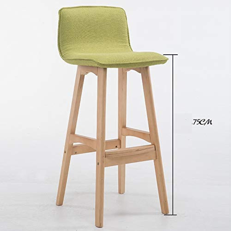 YYZSL Dreh- & Arbeitshocker Barhocker Küchenarbeitsstuhl mit PU Flanell-Lederkissen Seat Square Legs Living Room Stühle 29.5-Zoll (29.5  15.3   17.5  Mbel (Farbe   Grün)