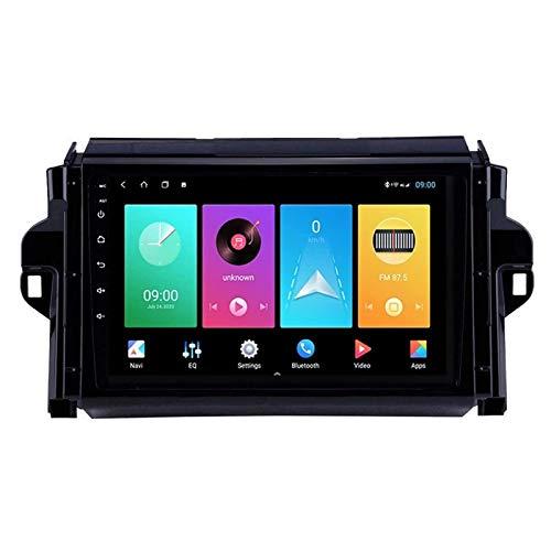 WY-CAR Pantalla Táctil De 9 Pulgadas Reproductor Multimedia De Automóviles para Toyota Fortuner Hulix 2016-2018, FM/Bluetooth/Controles De Volantes/Enlace De Espejo/Cámara De Vista Trasera