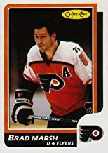 1986 O-Pee-Chee Regular (Hockey) card#175 Brad Marsh of the Philadelphia Flyers Grade Near Mint