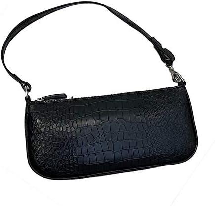 urjipstore Fashion Wild Retro Hong Kong Style Crocodile Pattern Wild Shoulder Bag Women's Student Bag