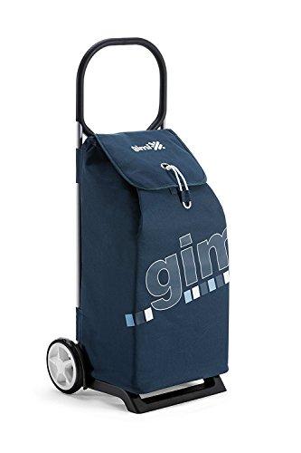 Gimi Trolley Italo, Einkaufstrolley, waschbare Regenschutztasche, blau, 52 l Volumen, 30 kg Traglast