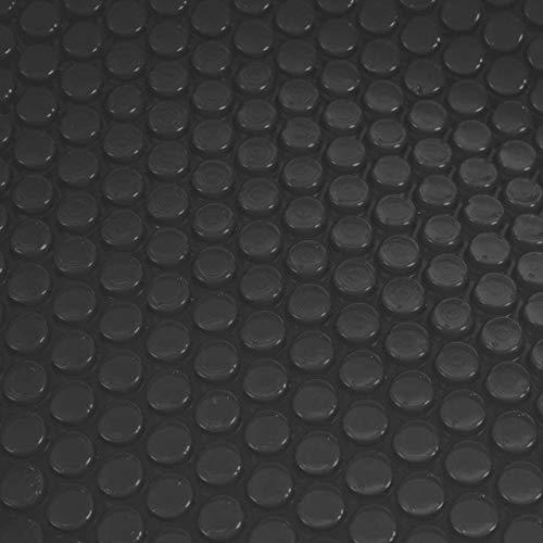 Mendler Pool-Abdeckung Wärmeplane Abdeckplane Solarplane Solarabdeckung, Stärke: 200 µm - rechteckig 3x2m schwarz