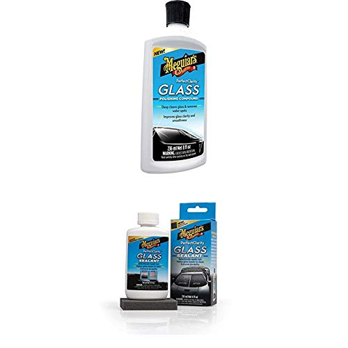 Meguiar's G8408EU Meguiars Perfect Clarity Glass Polishing Compound + G8504EU Perfect Clarity Glass Sealant Glas- Scheibenversiegelung
