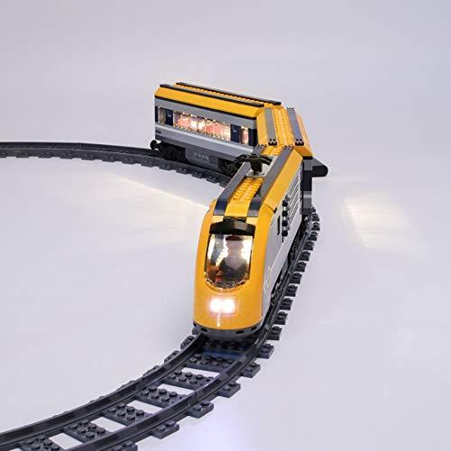 TETAKE LED Beleuchtungsset Licht-Set Beleuchtung Light Kit für Lego City Personenzug 60197 (Nicht Enthalten Lego Modell)