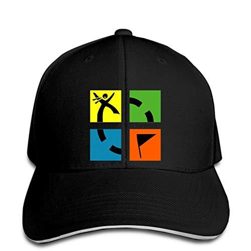 Gorra de Beisbol Geocaching Gorra de béisbol Hombre Gorra de béisbol Sombrero Negro Snapback Pico
