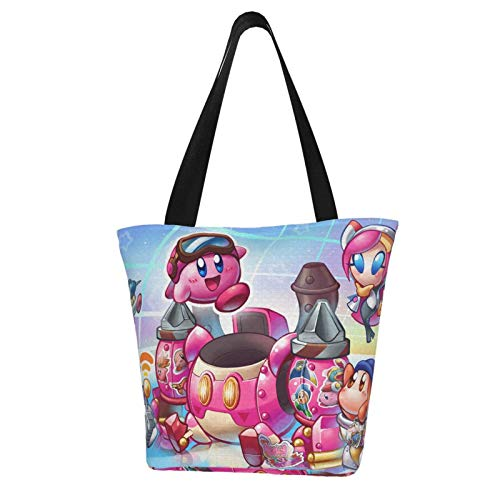 Anime Kirby Planet Robobot Super Smash Bros Women Totes Carry Bags Big Capacity Shoulder Handbags Messenger Backpacks Portable Webbing is Strong and Durable