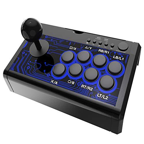 7-In-1 Bekabelde Rocker Gameconsole Gamegreep, Arcadebestrijding 2,4 M Bekabelde Joysticksteunen, Voor Schakelaar Voor PS4 PS3 Voor Xboxone Xbox360 Pc/Android (Zwart)