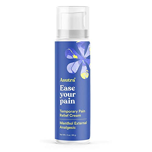 ASUTRA Pain Relief Cream, 3 oz | Formulated from Menthol, Arnica, & Dimethyl Sulfone | Anti-Inflammatory, Achy...