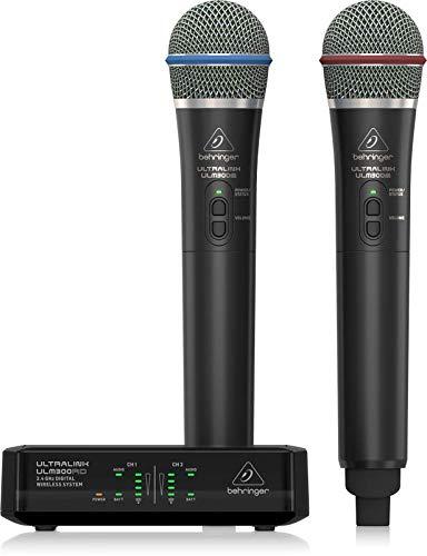 BEHRINGER ULM302 MIC DOPPIO RADIOMICROFONO PALMARE WIRELESS DIGITALE 2,4 GHz