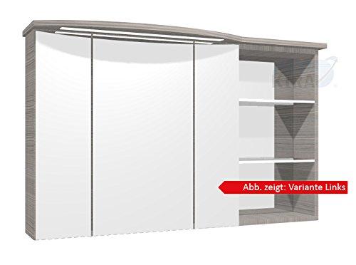 PELIPAL Contea Spiegelschrank inkl. LED Beleuchtung/CT-S3D8-1173-L/R-16 / Comfort N/B: 119 cm