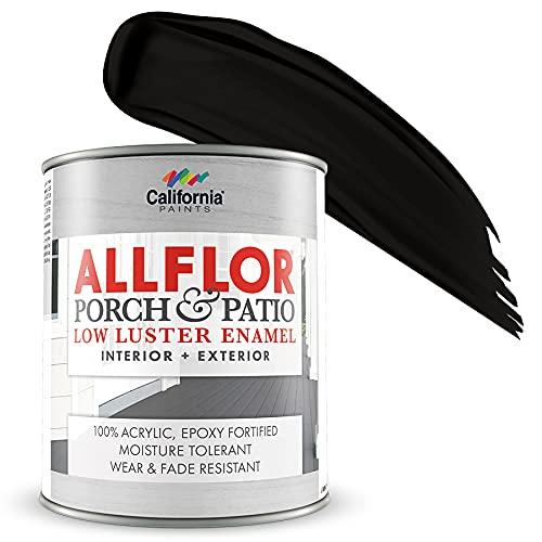 ALLFLOR California Paints Porch, Patio, Floor Paint (Quart, Black)
