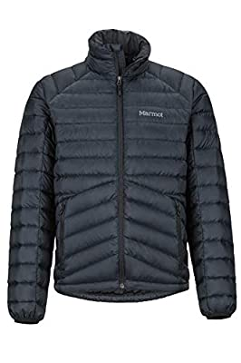 Marmot Men's Highlander Down Jacket, Lightweight Insulated Winter Coat, 700 Fillpower Duck Down Parka, Lightweight Packable Outdoor Anorak, Windproof, Black, M