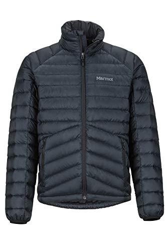 Marmot Highlander Down Jacket Piumino Leggero Isolante, Densità Dell'imbottitura 700, Giacca Da Esterno, Giacca Impermeabile Idrorepellente, Antivento, Uomo, Black, L
