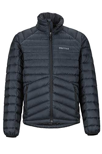 Marmot Herren Highlander Down Ultra-leichte Daunenjacke, 700 Fill-Power, Warme Outdoorjacke, Wasserabweisend, Winddicht, Black, L