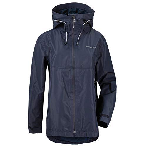 Didriksons W Tilde Jacket Blau, Damen Regenjacke, Größe 40 - Farbe Dark Night Blue