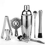 YISSVIC Shaker Cocktail 9Pcs Kit Cocktail Professionnel 700ml en Acier Inoxydable pour Chaque Occasion