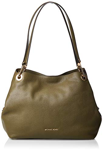 Michael Kors Raven Leather Shoulder Bag, Olive