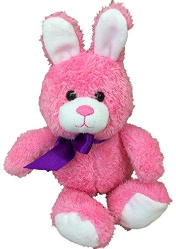 Animal Adventure Small Bright Pink Bunny Rabbit Plush Stuffed Animal Pal