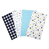 Trend Lab Flannel Burp Cloth Set, Out of This World, (Pack of 4)