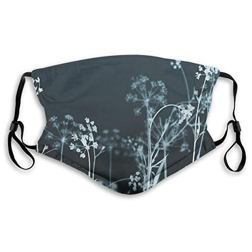 Wuyouhua Yiayatee Still Of The Night. Elegant Dark Floral Waschbare Mode Kältesicher Reitgesichtstuch, Verstellbare Hängeohren S