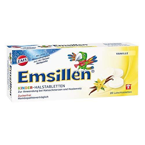 Emsillen Kinder Halstabletten mit Natürlichem Emser Salz/Bei Halsschmerzen und Hustenreiz / 20 Stück