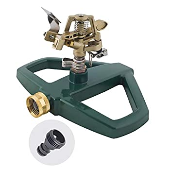 Melnor 65067-AMZ Pulsating Sprinkler with QuickConnect Product Adapter Amazon Bundle Metal Base