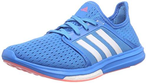 adidas Damen Climachill Sonic Boost Laufschuhe, Blau (Solar Blue2 S14/Ftwr White/Flash Red S15), 38 2/3 EU