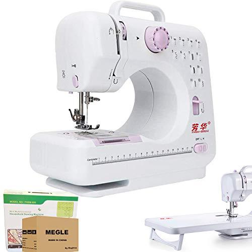 Máquina de coser, 12 puntadas, doble hilo de 2 velocidades, mesa de extensión, Megle-505A ( Fanghua )