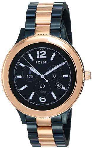 Fossil Reloj Mujer de Digital con Correa en Acero Inoxidable FTW6002