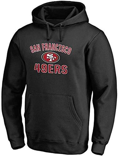 ZEDIYANJIN - Sudadera con capucha para hombre San Francisco 49ers con cordón y jersey verde para ocio (color: negro, tamaño: L)