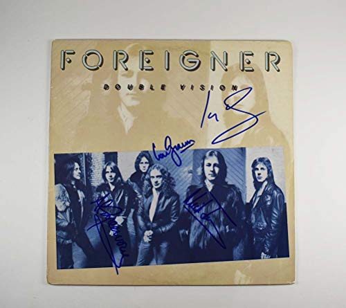Foreigner Double Vision Band Signed Record Album LP Certified Authentic JSA...