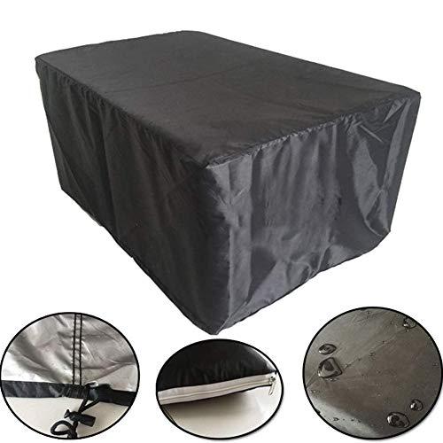 QIANCHENG-tarpaulins Bâches De Protection Couverture De Meubles en Rotin De JardinÉtanche à La Poussière Tissu Anti-Pluie Table Et Chaise Polyester,10 Tailles,Black-242x162x100cm